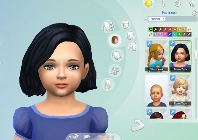 Sims 4 Amalia Hair for Toddlers at My Stuff