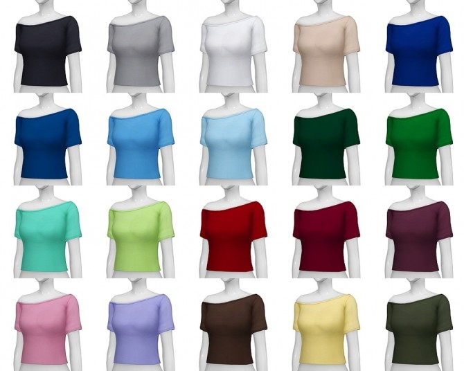 Basic T shirt F V3 (20 colors) at Rusty Nail image 2365 670x536 Sims 4 Updates