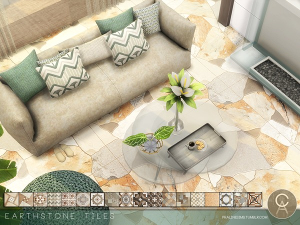 Earthstone Tiles by Pralinesims at TSR image 2419 Sims 4 Updates