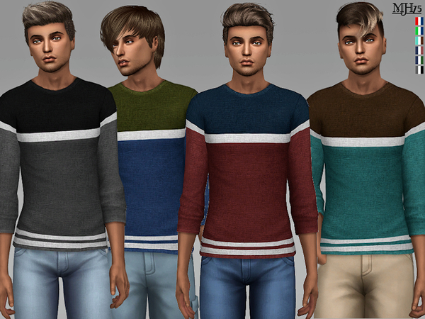 Sims 4 Alex Sweaters by Margeh 75 at TSR