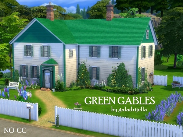 Green Gables house by galadrijella at TSR image 2430 Sims 4 Updates