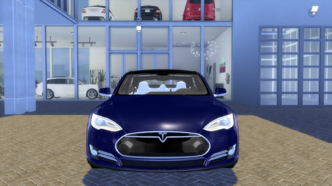 Tesla Model S P90D 2015 at OceanRAZR image 2445 670x377 Sims 4 Updates