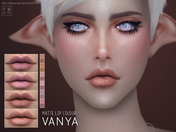 Sims 4 Vanya Matte Lip Colour by Screaming Mustard at TSR