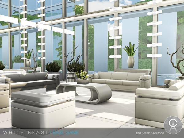 White Beast home by Pralinesims at TSR image 246 Sims 4 Updates