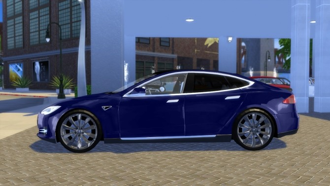 Tesla Model S P90D 2015 at OceanRAZR image 2465 670x377 Sims 4 Updates