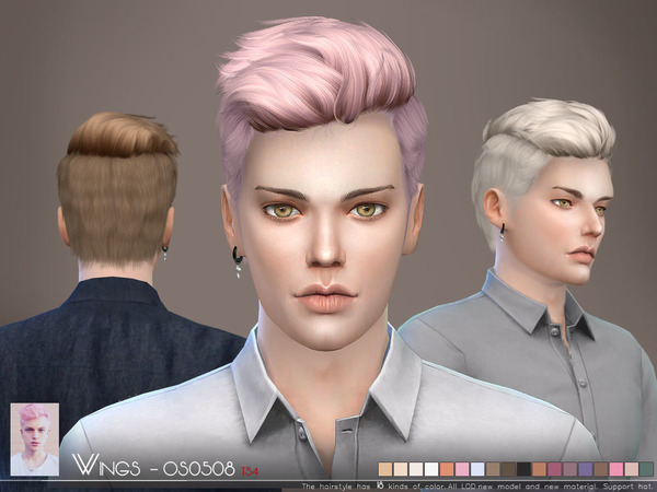 Sims 4 Hair OS0508 M by Wings Sims at TSR