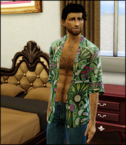 Sims 4 Male Kimono Retextured at Julietoon – Julie J