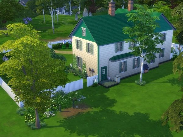 Sims 4 Green Gables house by galadrijella at TSR