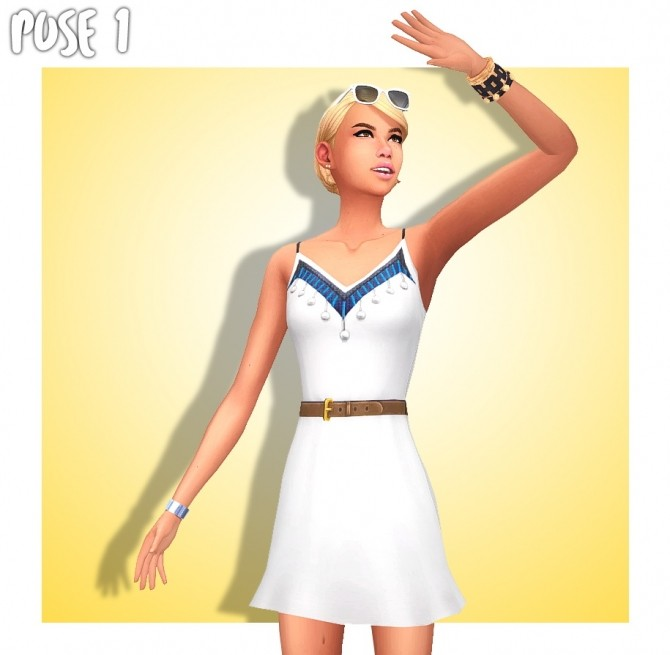 SUMMER GIRL POSE PACK (CAS & In Game) at Wyatts Sims image 2543 670x655 Sims 4 Updates