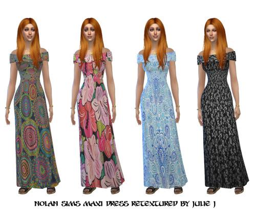 Nolan Sims Maxi Dress Retextured at Julietoon – Julie J image 2545 Sims 4 Updates