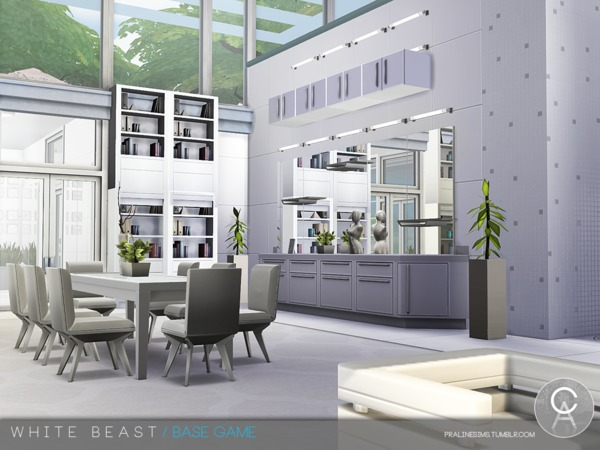 White Beast home by Pralinesims at TSR image 255 Sims 4 Updates