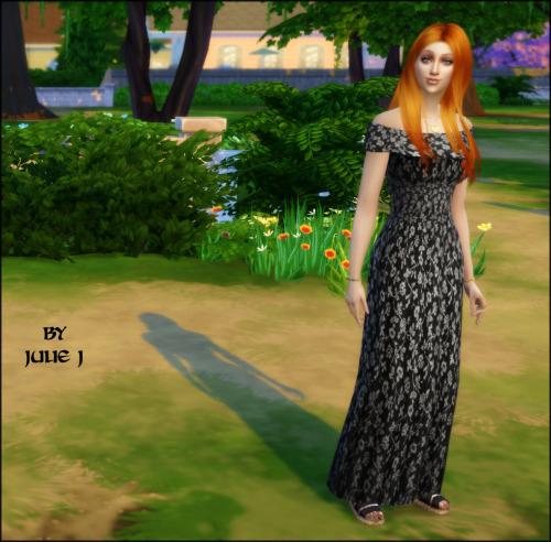 Nolan Sims Maxi Dress Retextured at Julietoon – Julie J image 2555 Sims 4 Updates