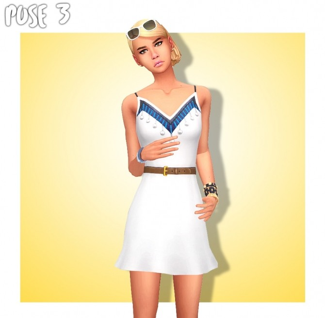 SUMMER GIRL POSE PACK (CAS & In Game) at Wyatts Sims image 2563 670x655 Sims 4 Updates