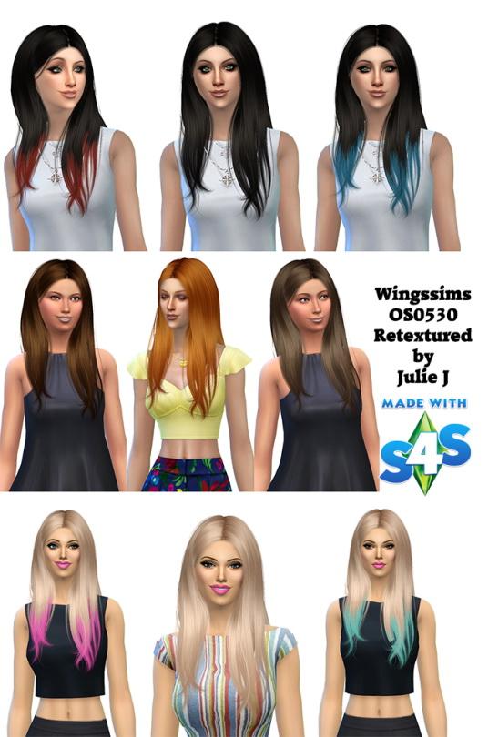 Sims 4 Wingssims OS0530 Hair Retextured at Julietoon – Julie J