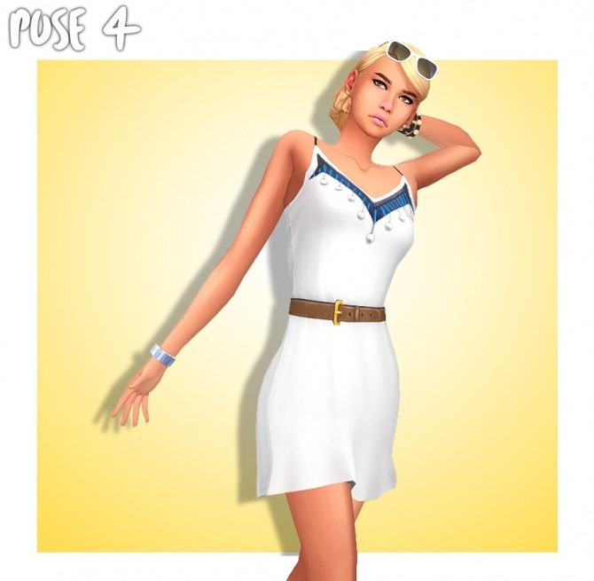 SUMMER GIRL POSE PACK (CAS & In Game) at Wyatts Sims image 2572 670x655 Sims 4 Updates