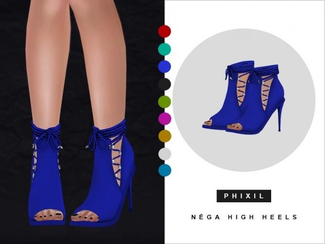 Nega high heels at Phixil Sims image 2602 670x503 Sims 4 Updates
