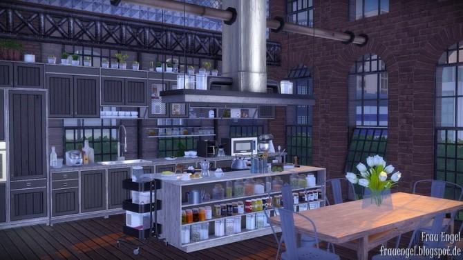 Sims 4 Industrial Penthouse by Julia Engel at Frau Engel