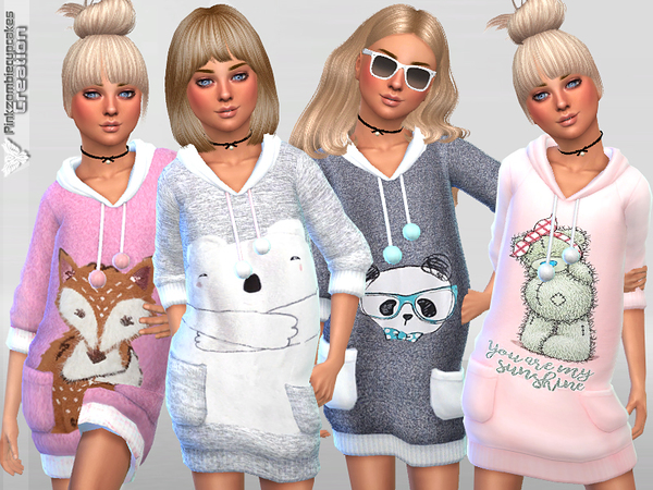 Sims 4 Child Sweaters Collection 05 by Pinkzombiecupcakes at TSR