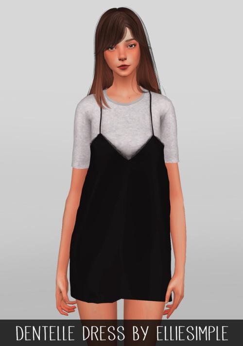 Sims 4 Dentelle dress at Elliesimple
