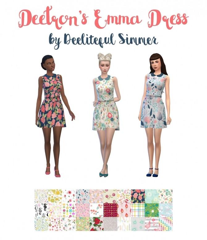 Sims 4 Deetrons Emma dress at Deeliteful Simmer