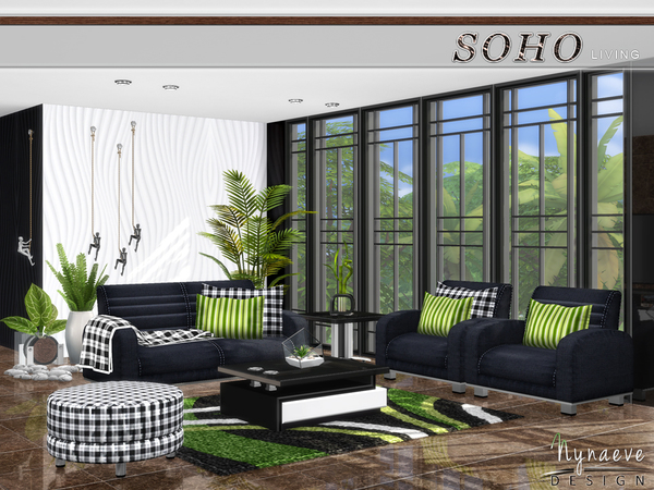 Soho Living Room by NynaeveDesign at TSR image 268 Sims 4 Updates