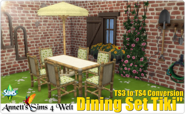 Dining Set Tiki TS3 to TS4 Conversion at Annett's Sims 4 Welt image 2692 Sims 4 Updates