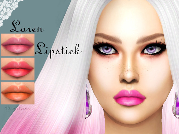 Loren lipstick by Sharareh at TSR image 2710 Sims 4 Updates