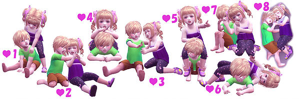 Twins Toddler Pose 03 At A Luckyday 187 Sims 4 Updates