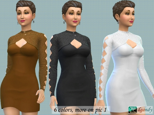 Dress with Bolero by dgandy at TSR image 2725 Sims 4 Updates