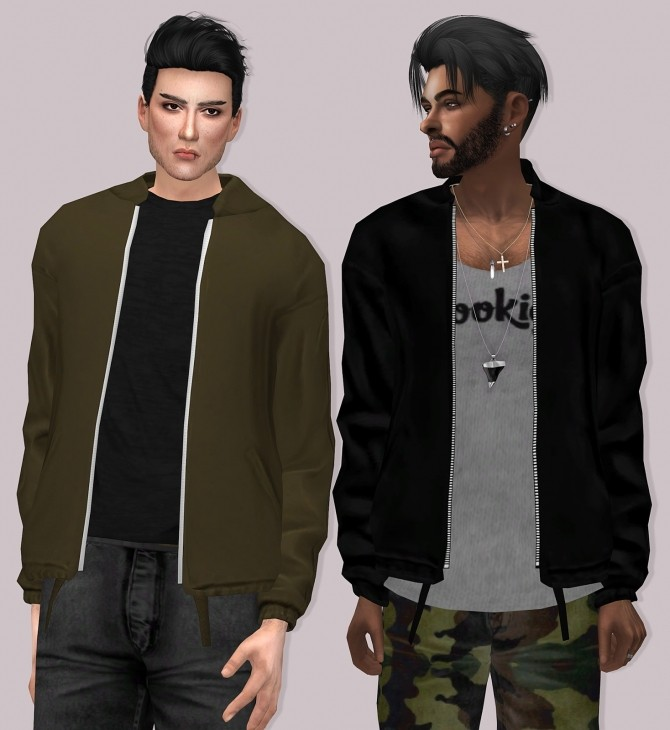 Sims 4 Semller GStar Jacket Male Version at Lumy Sims