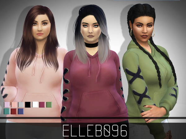 Sims 4 Corset Sleeve Hoodie by Elleb096 at TSR