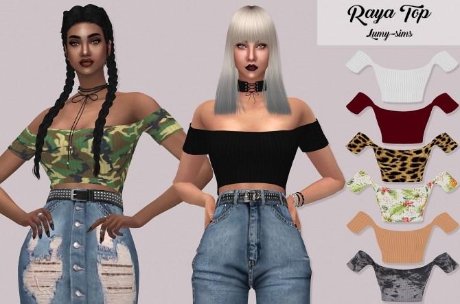 Raya Top at Lumy Sims image 2784 670x443 Sims 4 Updates