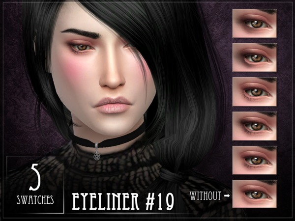 Sims 4 Eyeliner 19 by RemusSirion at TSR