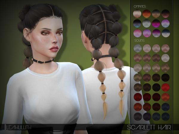 Sims 4 Scarlett Hair by Leah Lillith at TSR