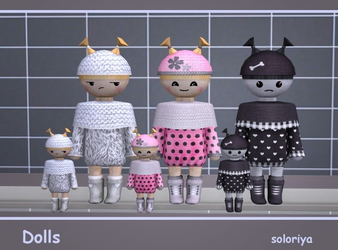 Sims 4 Dolls at Soloriya