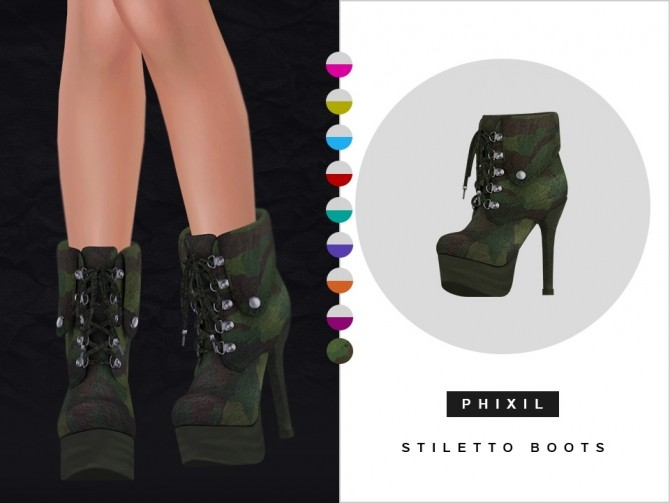 Stiletto boots at Phixil Sims image 2881 670x503 Sims 4 Updates