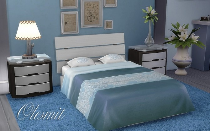 Sims 4 Double beds at OleSims