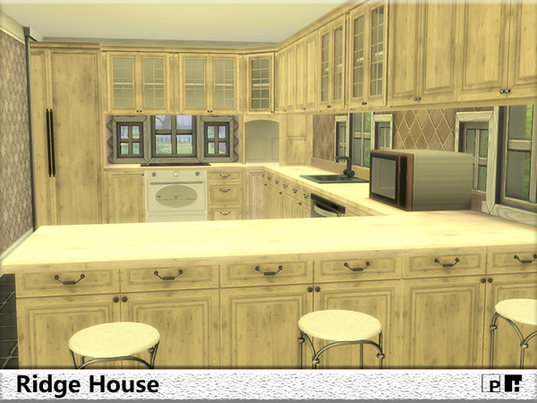 Sims 4 Ridge House by Pinkfizzzzz at TSR