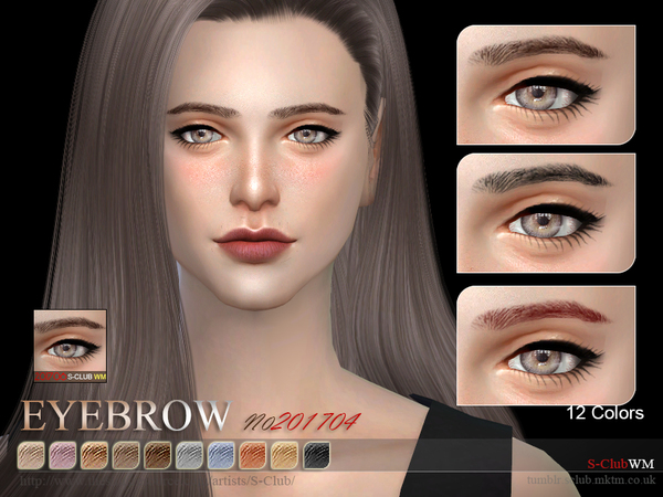 Sims 4 Eyebrows F 201706 by S Club WM at TSR