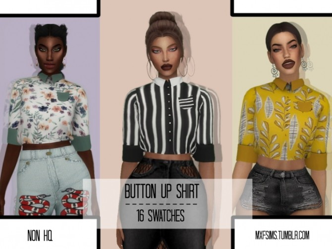 Button Up Shirt at MXFSims image 2931 670x503 Sims 4 Updates
