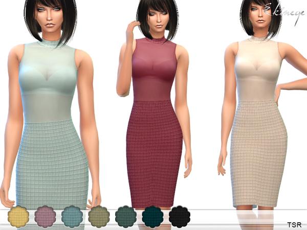Sims 4 Bandage Mesh Dress by ekinege at TSR