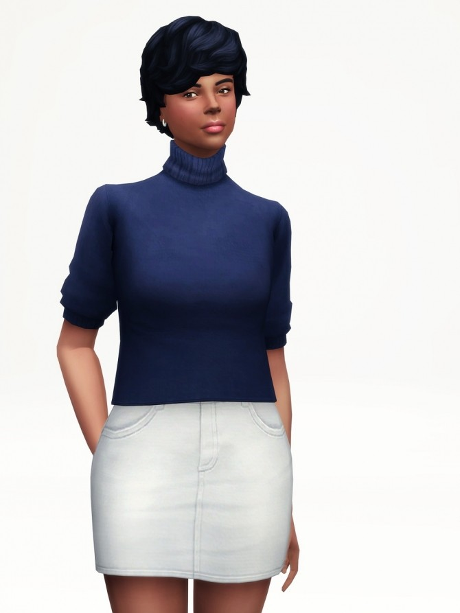 Half Sleeves Turtle Neck Sweater At Rusty Nail 187 Sims 4