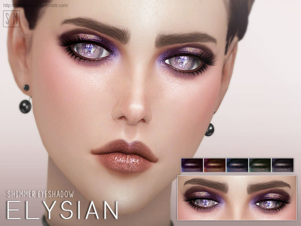 Elysian Shimmer Eyeshadow by Screaming Mustard at TSR image 308 Sims 4 Updates