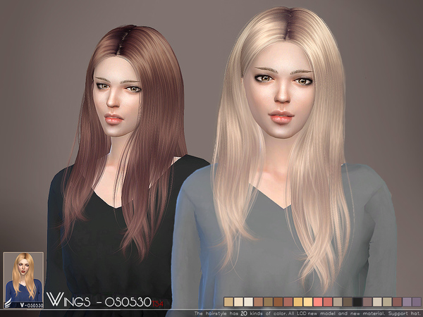 Hair OS0530 by wingssims at TSR image 3102 Sims 4 Updates