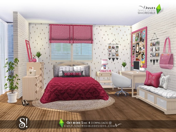 Jules Bedroom By Simcredible At Tsr 187 Sims 4 Updates