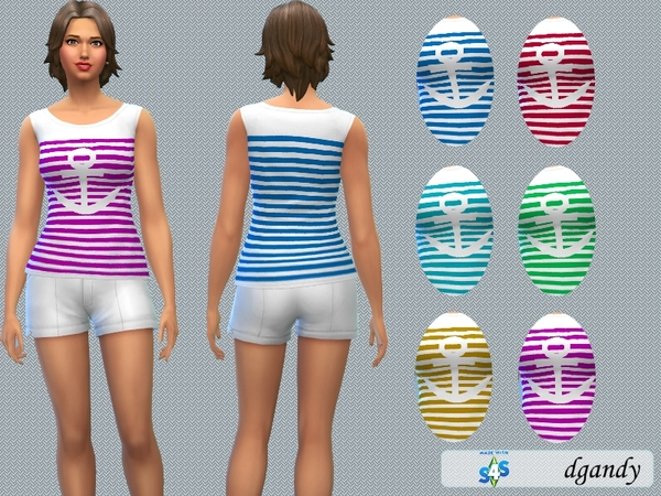 Sims 4 Tank Top Anchor by dgandy at TSR