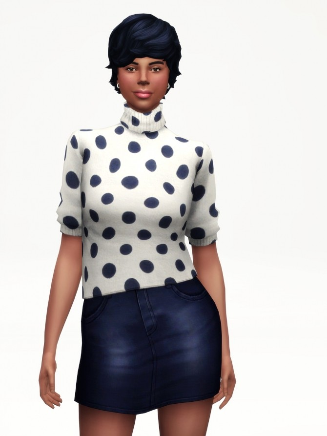 Half Sleeves Turtle Neck Sweater Pattern At Rusty Nail