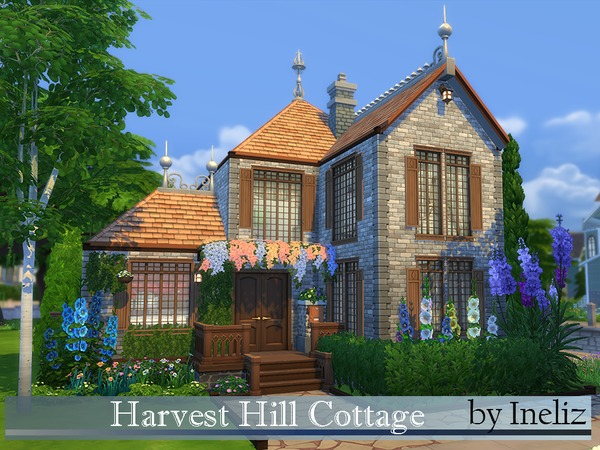 Sims 4 Harvest Hill Cottage by Ineliz at TSR