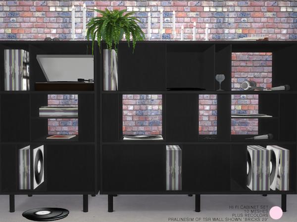 Hi Fi Cabinet Set by DOT at TSR image 315 Sims 4 Updates