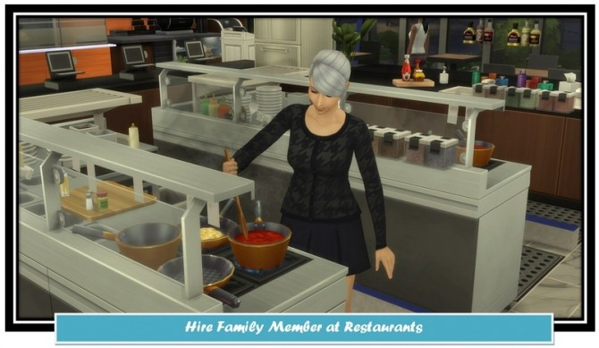 Hire Family Members at Restaurants by LittleMsSam at Mod The Sims image 317 670x389 Sims 4 Updates